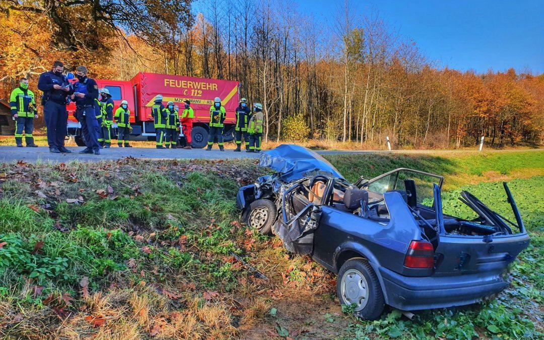 Verkehrsunfall K26 Griebelschied – Bergen 05.11.2020